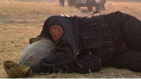 Así quedó una bombero de la Provincia de Buenos Aires