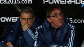 Martino y Pautasso, cuando estaban al mando de la Selección