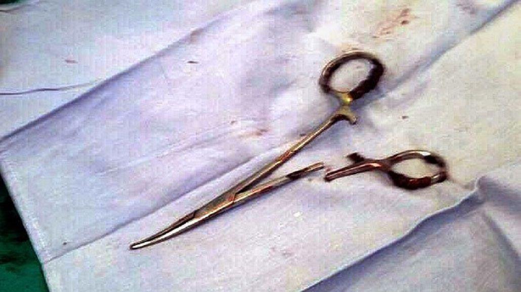 Las tijeras estaban oxidadas
