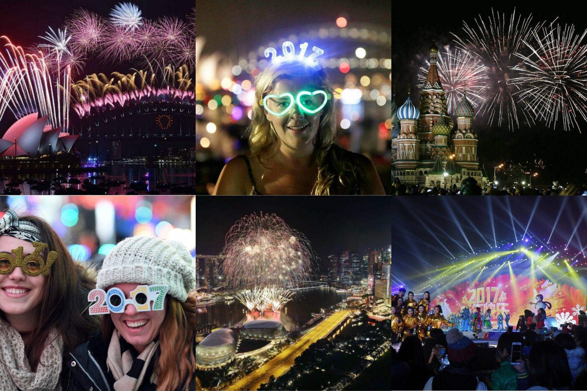 Festejo de fin de año en el mundo