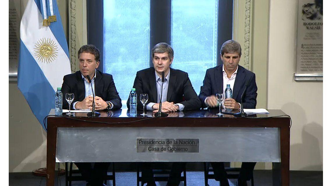 Los nuevos ministros Dujovne y caputo