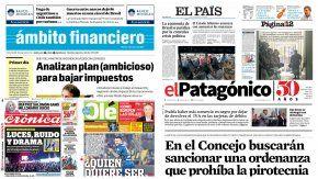 Tapas de diarios del martes 3 de enero de 2017