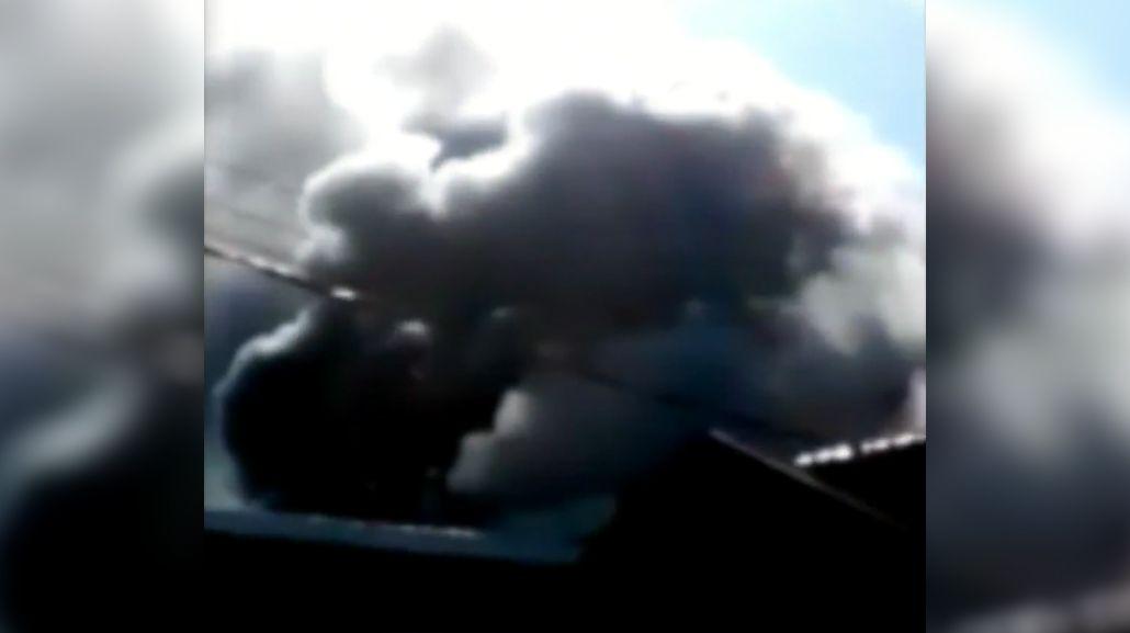 Incendio en un depósito de Laferrere