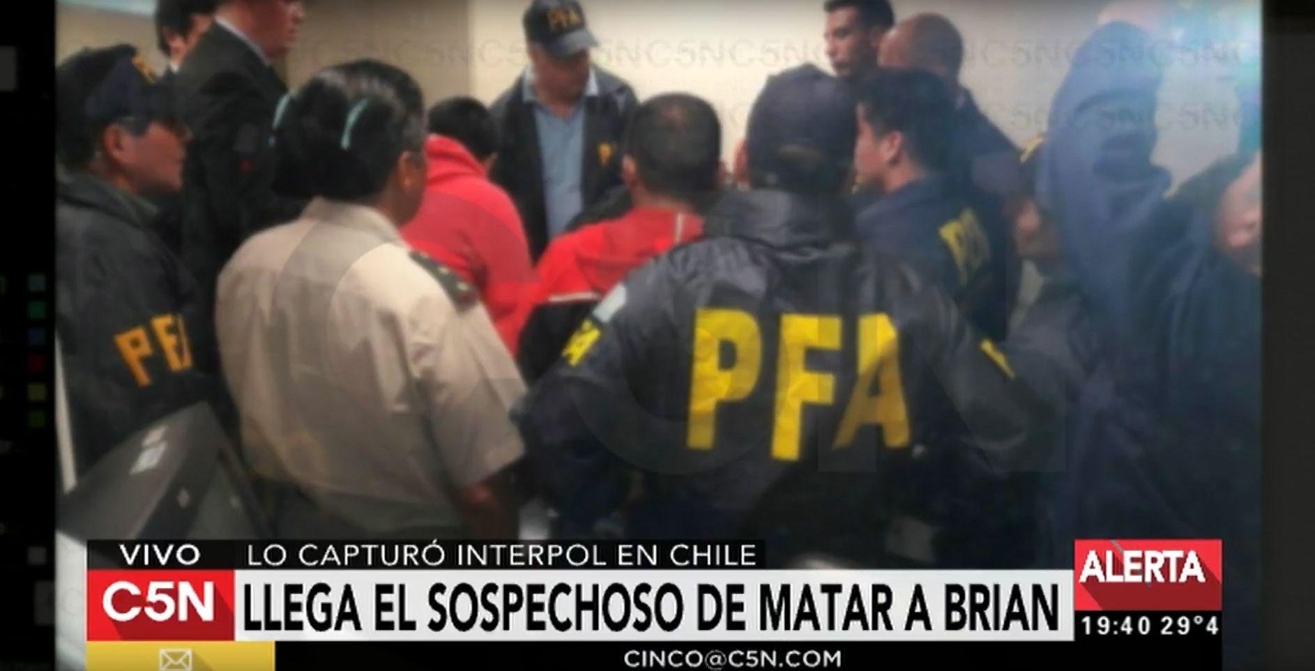 Detuvieron a un adolescente en Chile por el crimen de Brian