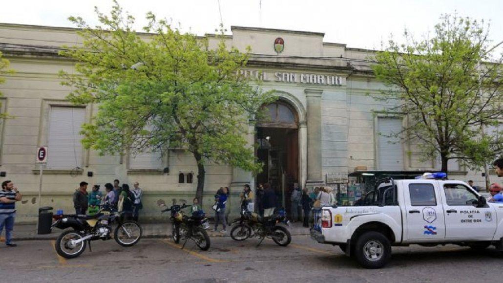 El hombre fue trasladado al hospital San Martín de Paraná