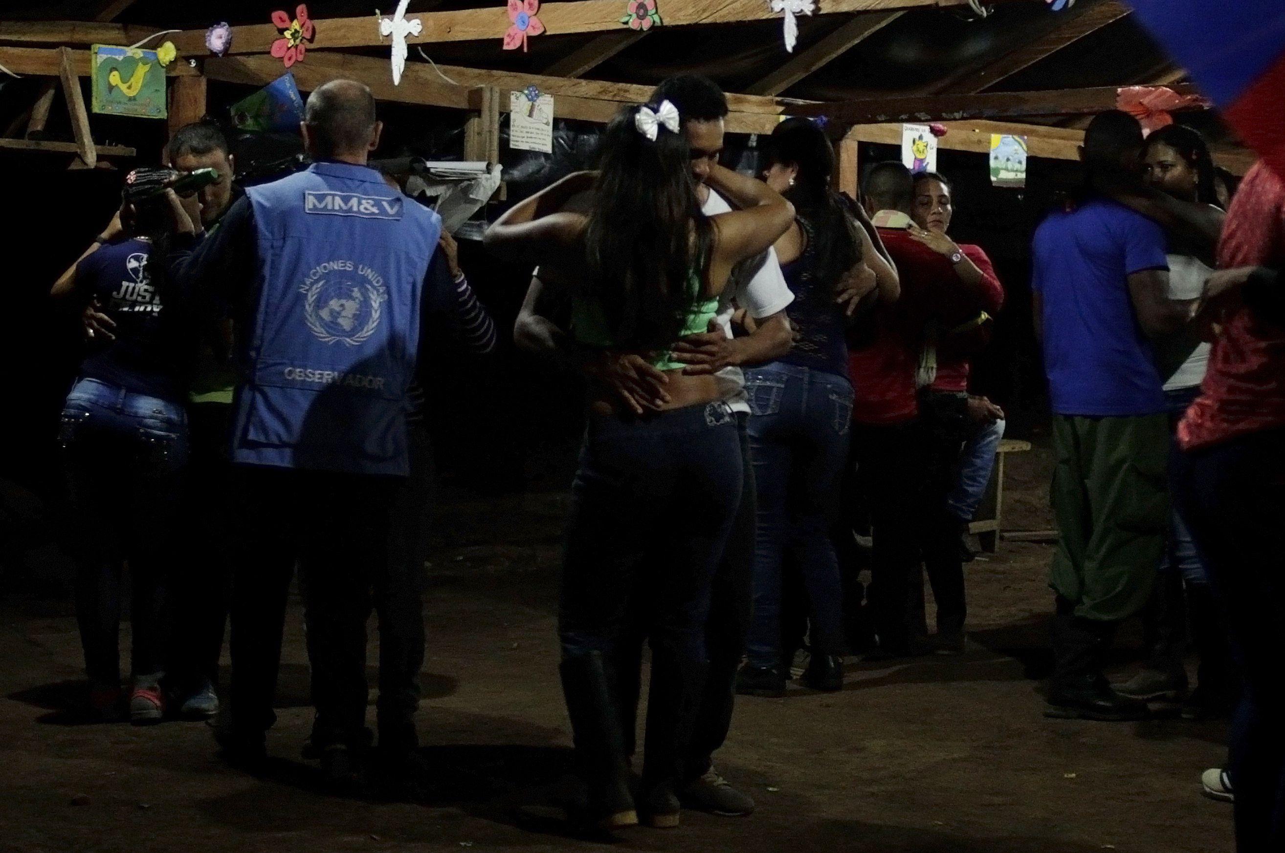 Los observadores de la ONU con las FARC
