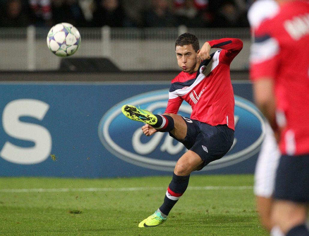 El belga se despidió del Lille con tres goles en media hora