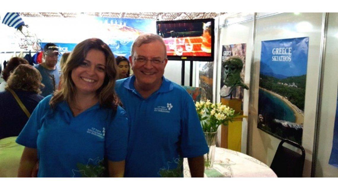 Embajador griego en Brasil y su esposa