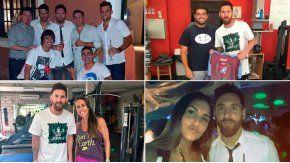 Messi, descansando en Rosario