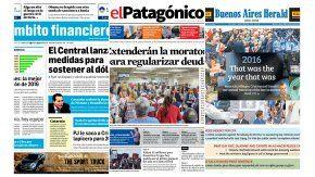 Tapas de diarios del viernes 30 de diciembre de 2016