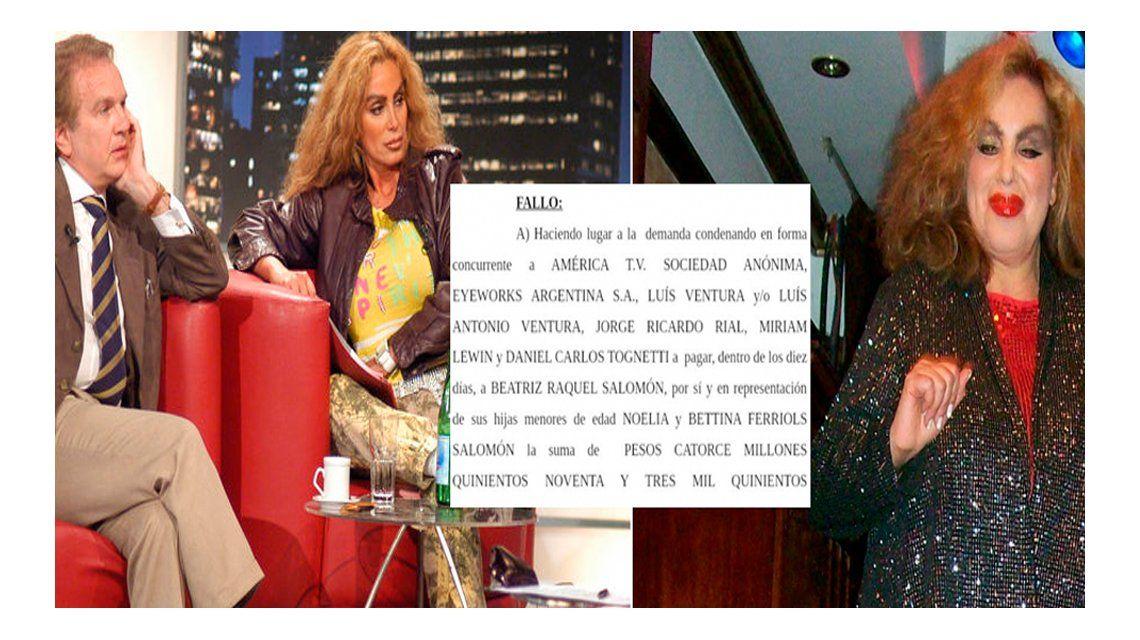 La justicia falló a favor de Beatriz Salomón