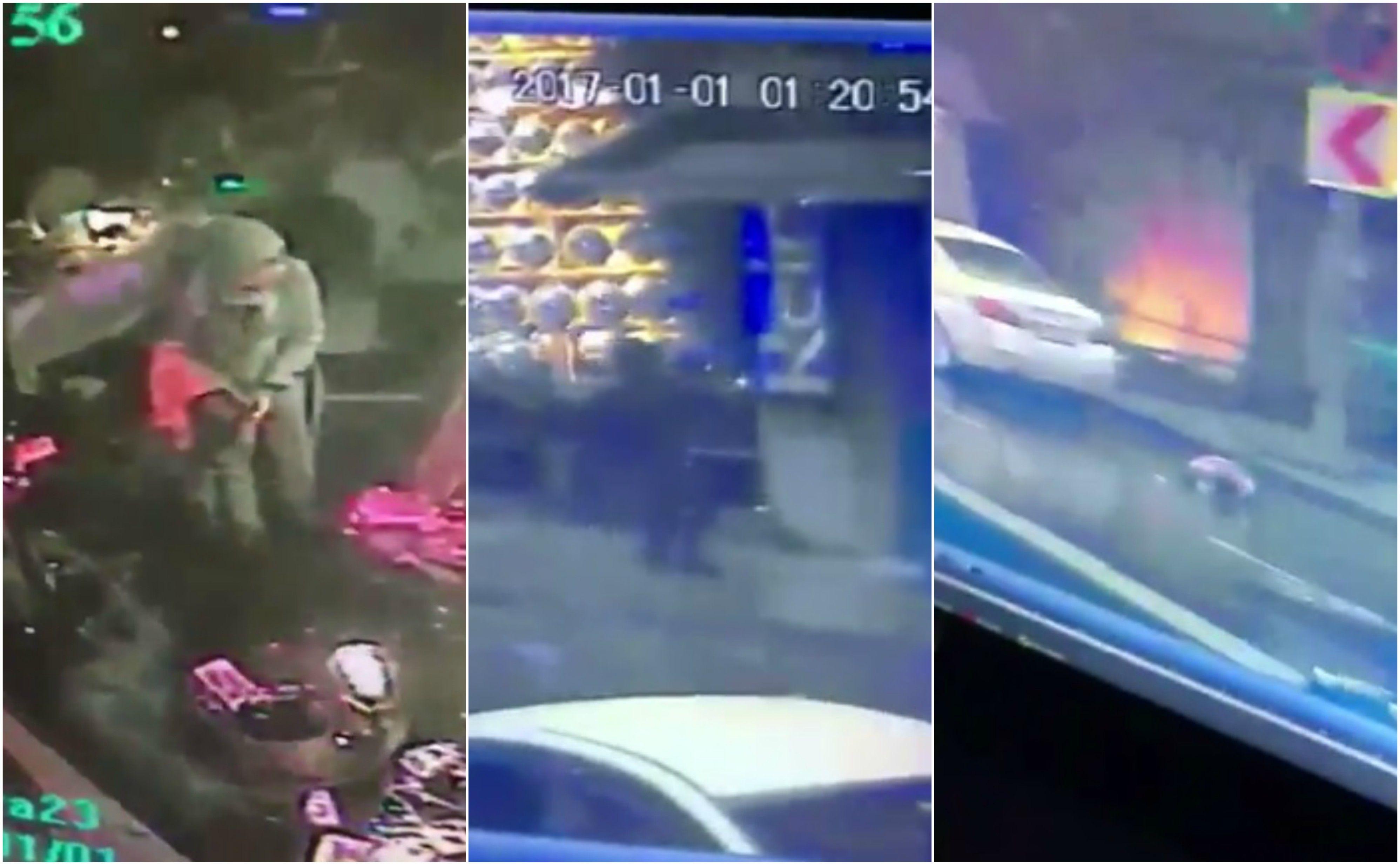 Imágenes tomadas por las cámaras de seguridad