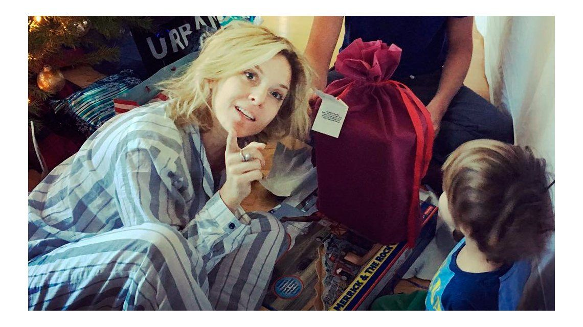 Carla Peterson celebró la Navidad en familia