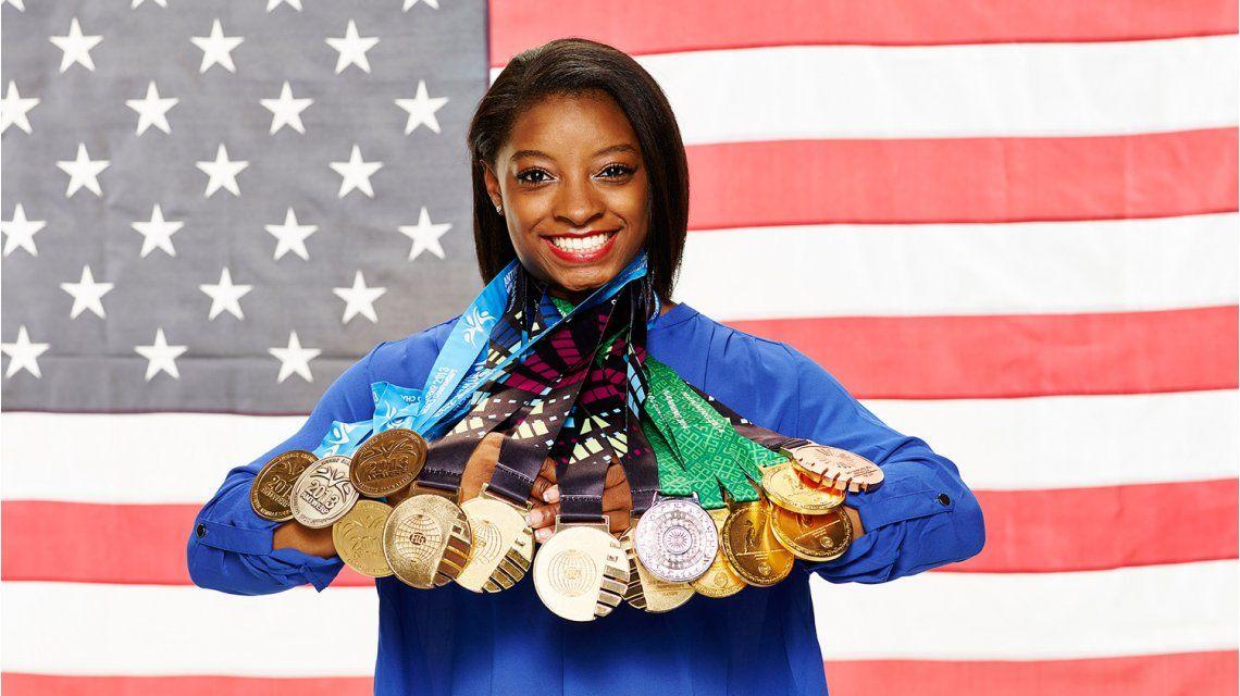 Simone Biles ganó cinco medallas en Río 2016