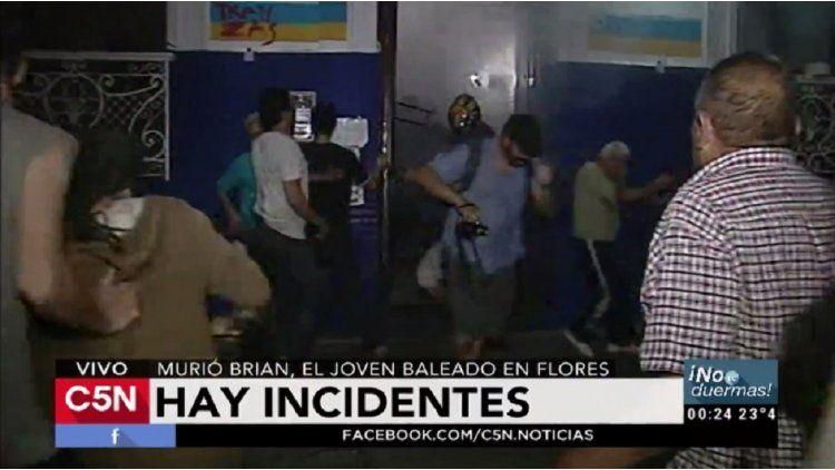 Incidentes en la comisaría 38 de Flores tras la muerte de Brian