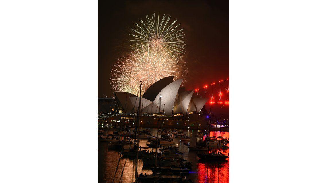 Así recibió el año nuevo en Australia