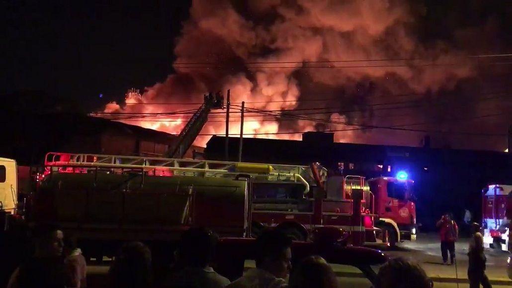 Incendio en las instalaciones de Danisant