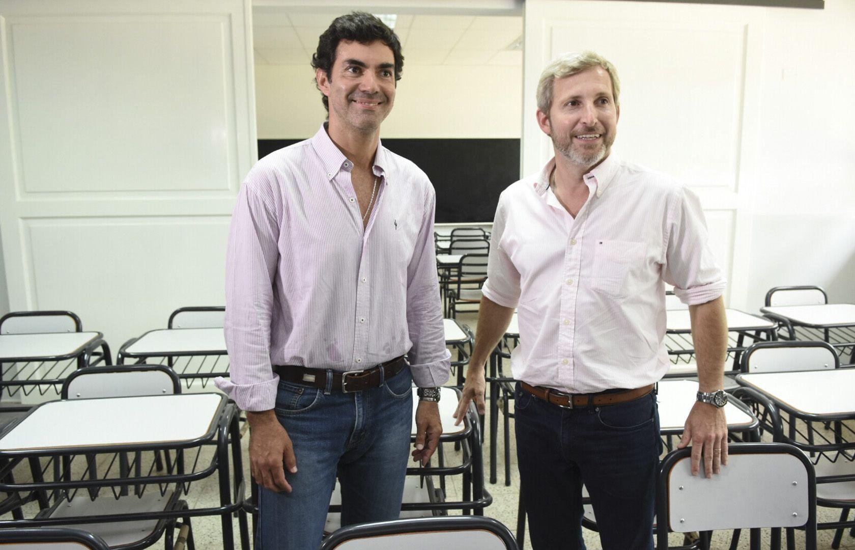 Urtubey y Frigerio en la inauguración de una escuela en Tartagal