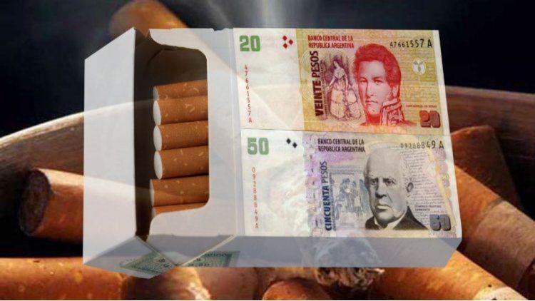 El atado de cigarrillos rozaría los $ 70
