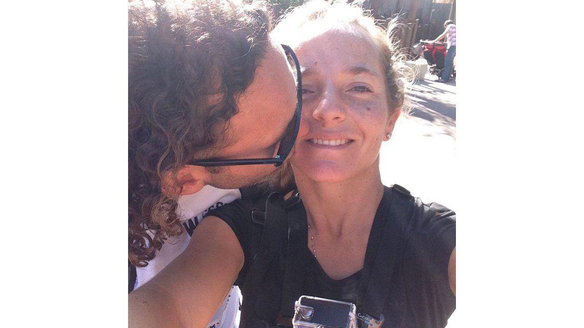 Gabriel Milito y su mujer