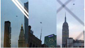 Los aviones militares de Trump, en Nueva York