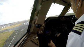 El video se publicó en una página de facebook de pilotos aficionados