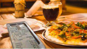 El ticket de una pizzería de Villa Carlos Paz se volvió viral