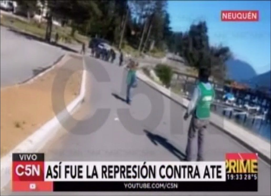 Así fue la represión a ATE en Neuquén