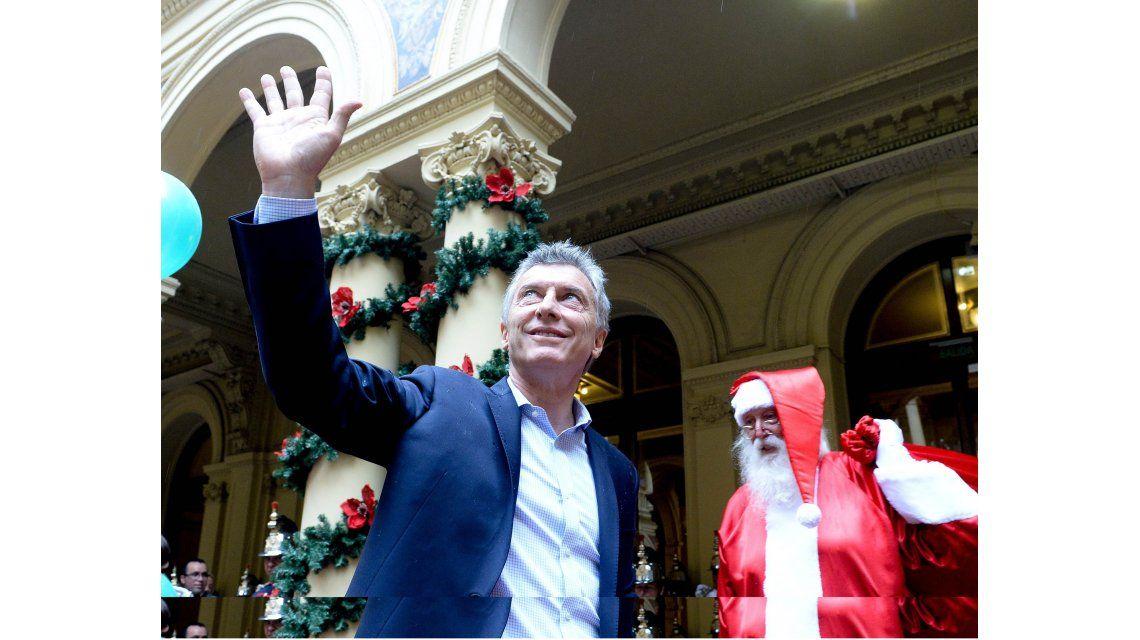 Macri festejó en la Casa Rosada