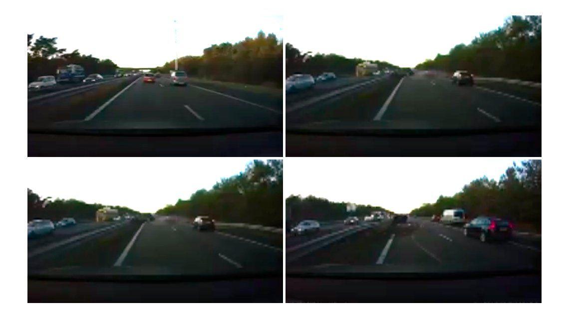 El piloto automático del Tesla evitó un accidente