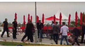 Batalla campal en Mar del Plata. Captura de pantalla