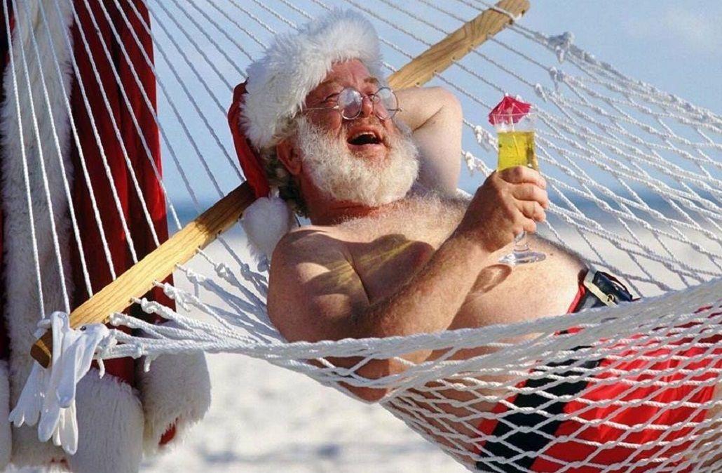Papá Noel acalorado