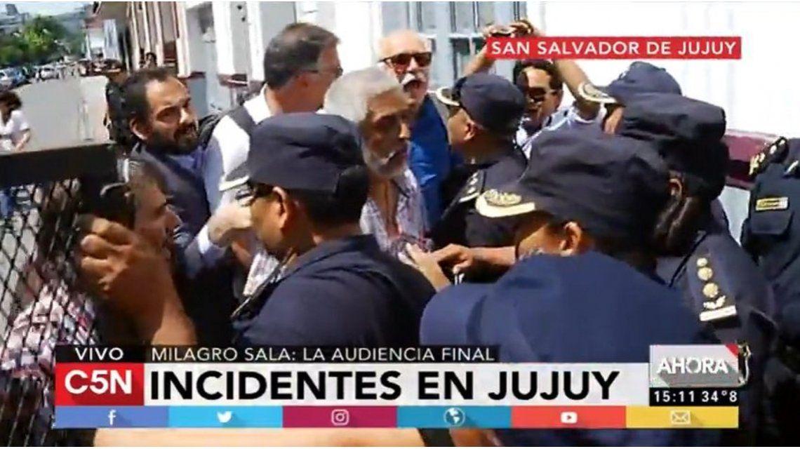 Golpes, heridos y un detenido en la audiencia final del juicio a Milagro Sala