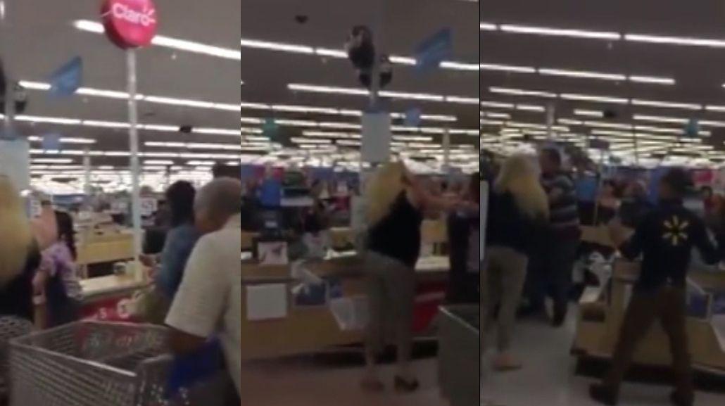 Pelea en un supermercado