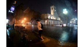 Tormenta en la ciudad de Buenos Aires