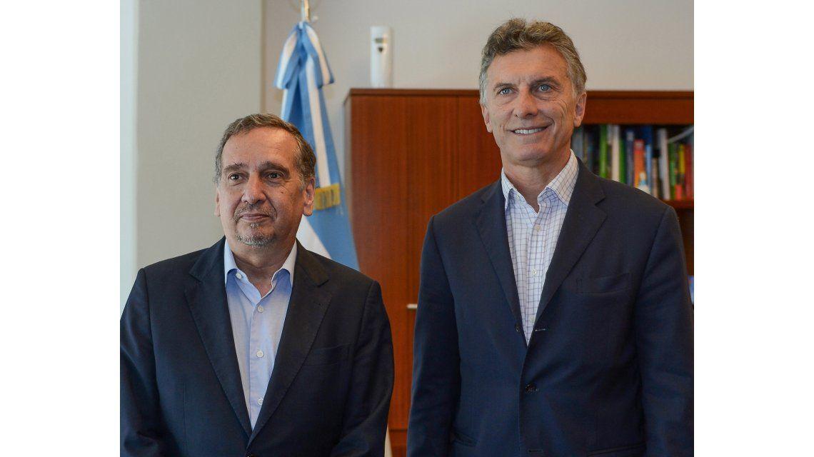 Lino Barañao y Mauricio Macri en un reunión a principios de 2016