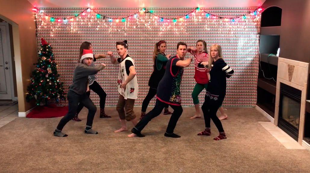 La coreografía navideña de ocho hermanos que es furor