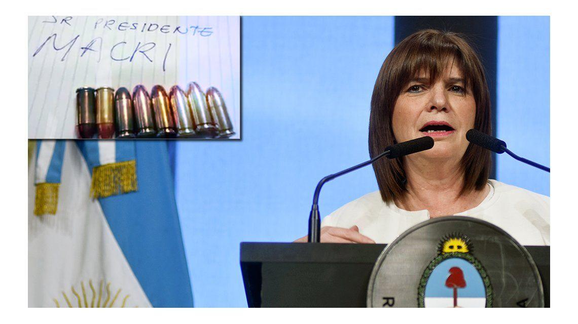 Bullrich prometió una clara persecución penal para los que amenacen a Macri