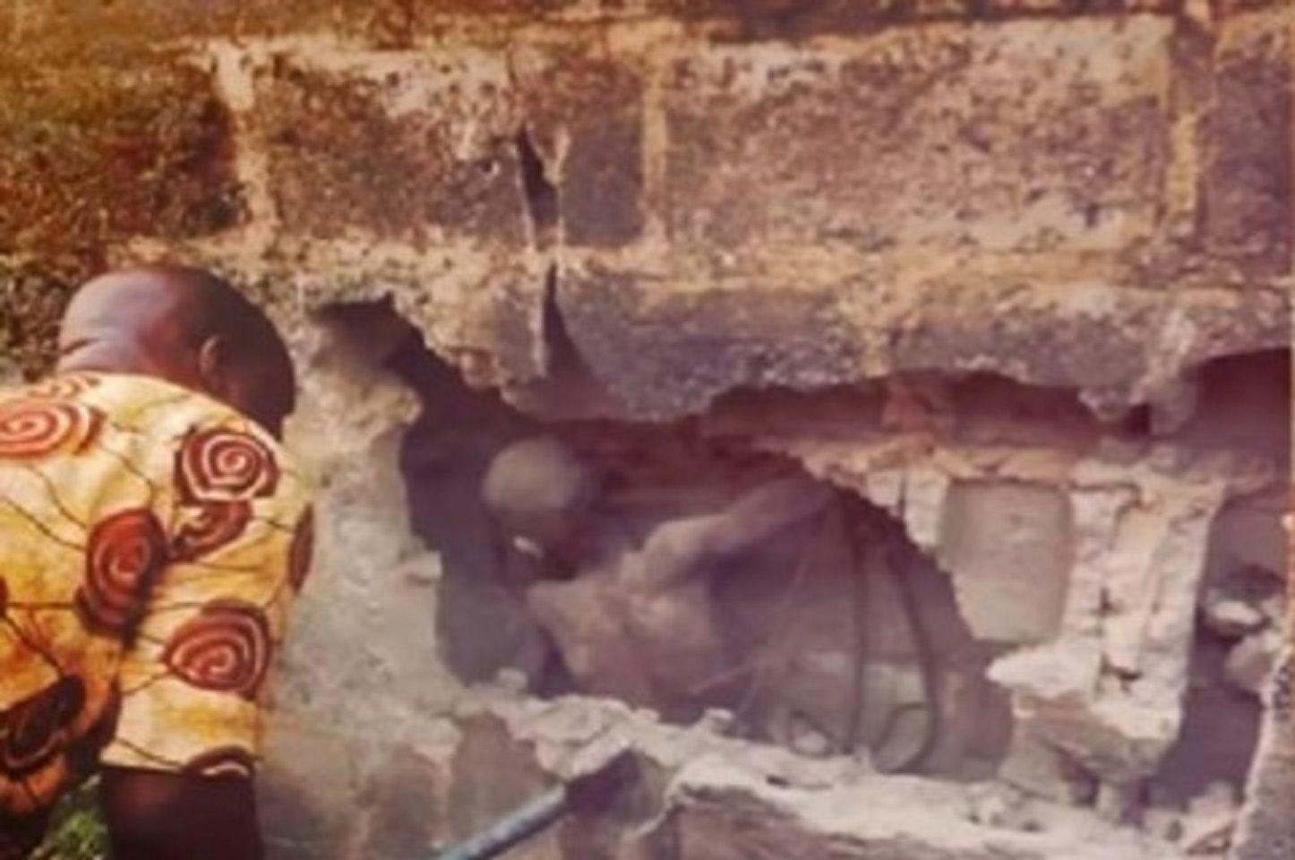 Niño quedó atrapado en dos paredes