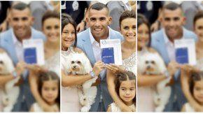 La mascota de Carlos Tevez, figura del casamiento