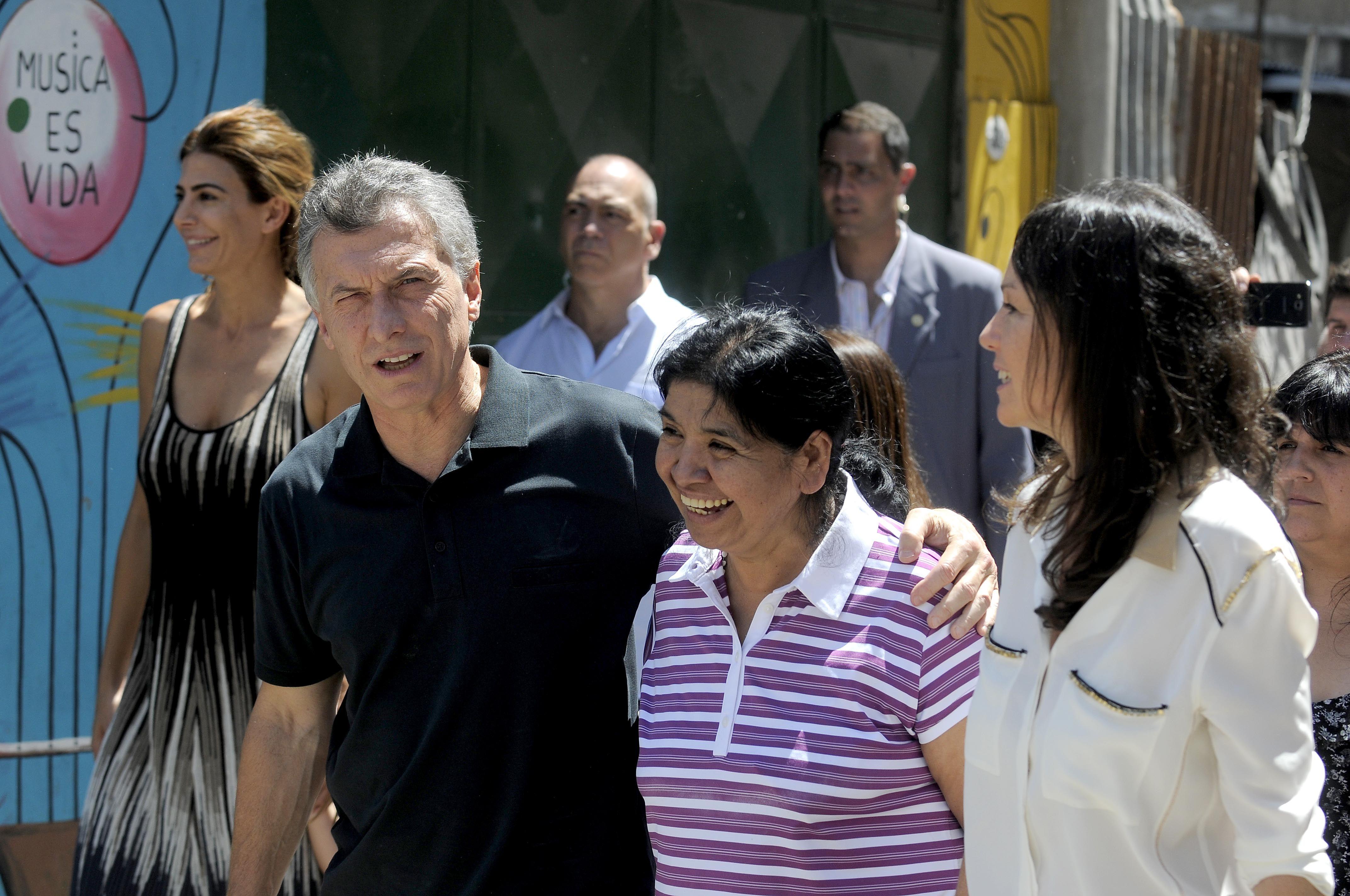 Macri visitó el comedor de Margarita Barrientos