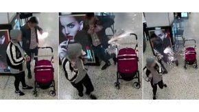 Así le explotó el cigarrillo electrónico a este hombre en un shopping de Gran Bretaña