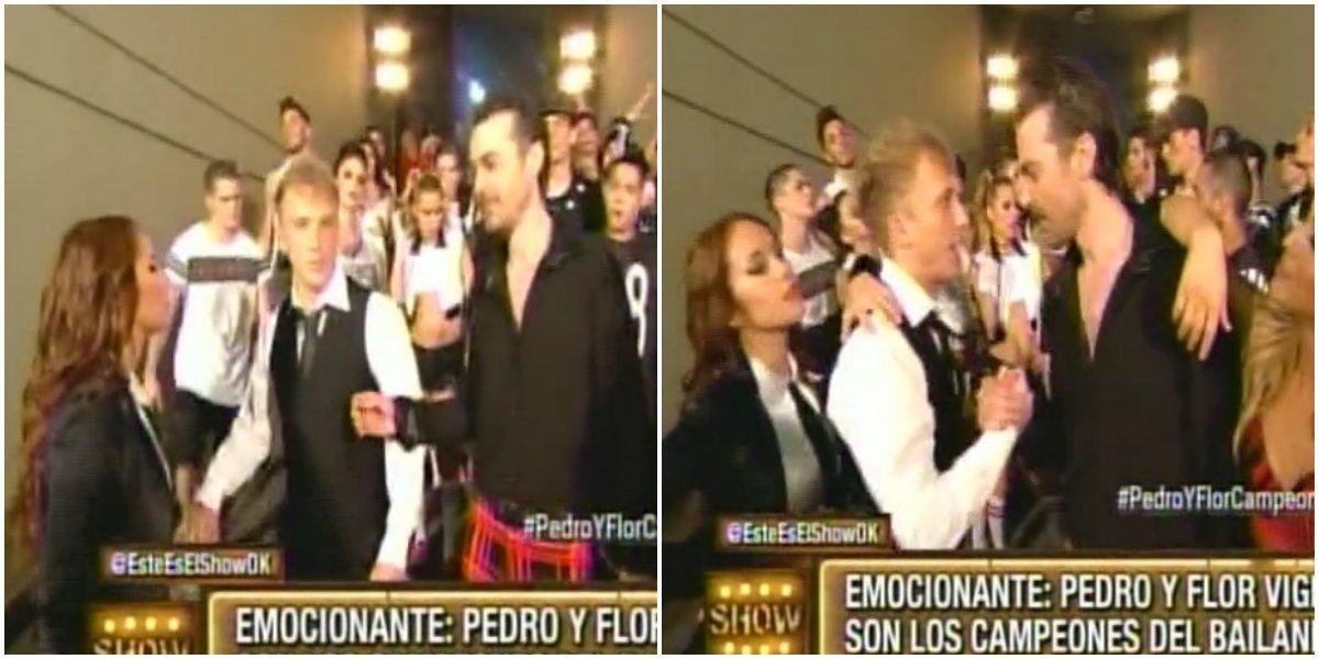 Pedro Alfonso se confundió de paso en la apertura de la final del Bailando
