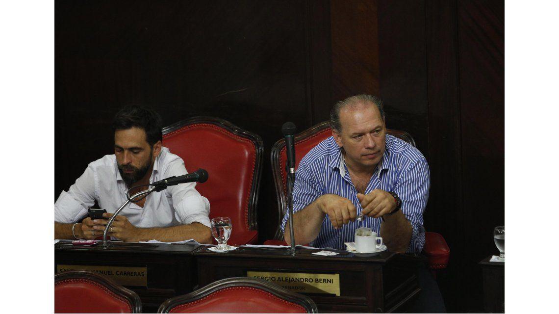 Santiago Carreras y Sergio Berni