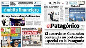 Tapas de diarios del 20 de diciembre de 2016