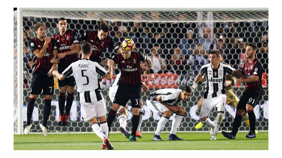 Milan venció a Juventus y es el campeón de la Supercopa de Italia