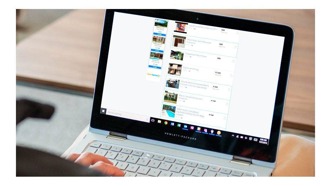 Alquilar en vacaciones por internet