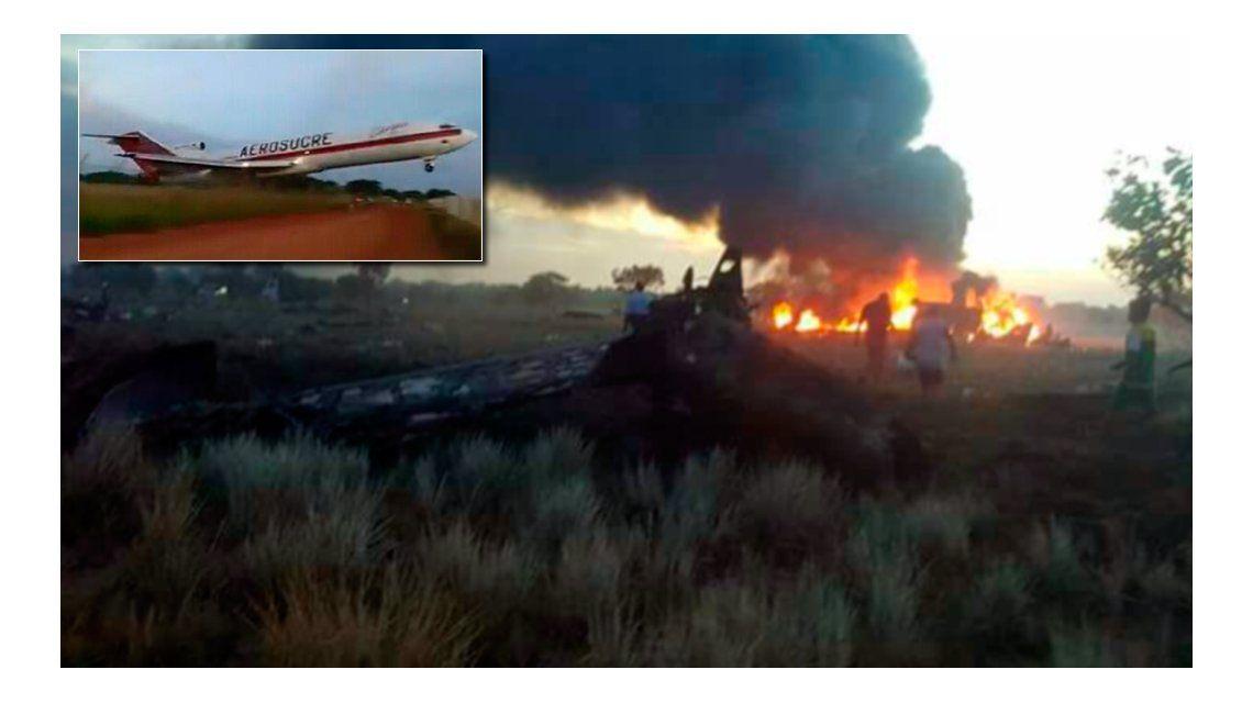 Así intentaba despegar el avión de Aerosucre que terminó cayendo y en el que murieron al menos cinco personas