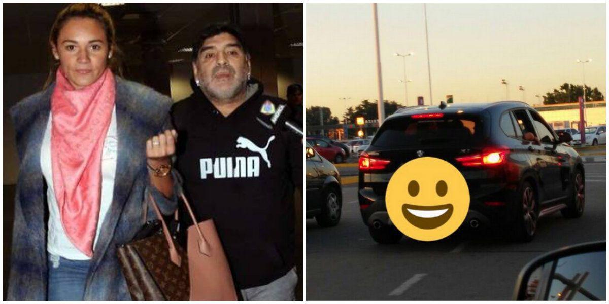 Diego Maradona llegó a Argentina