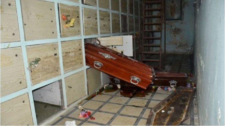 Profanaron el cementario de Santa Rosa - Crédito: elintransigente.com
